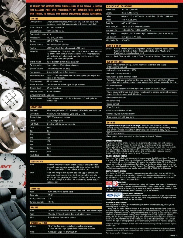 All Types terminator cobra specs : SVT Documents