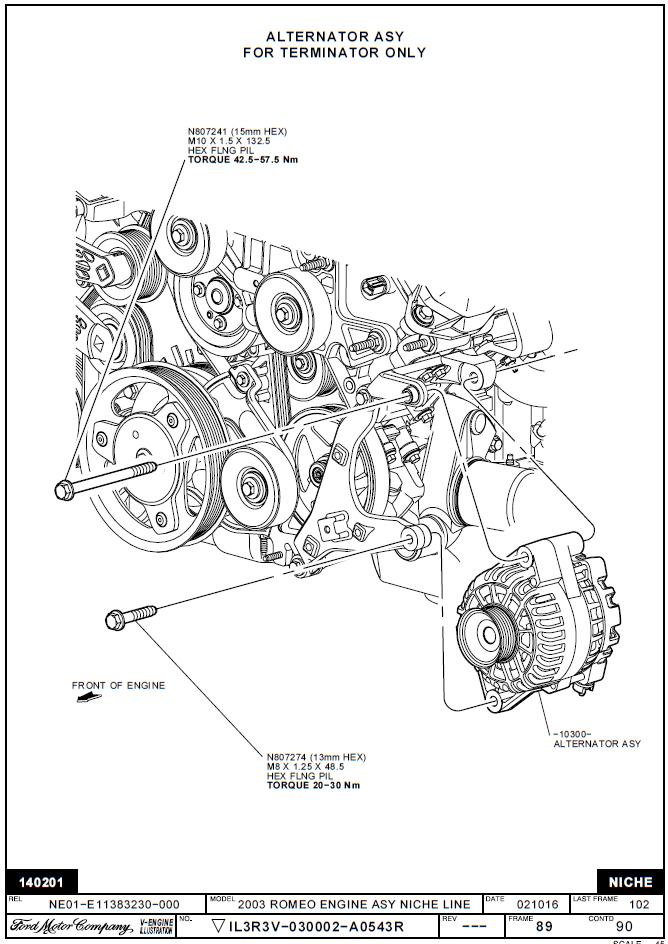 Ford 6G Alternator Wiring Diagram from www.terminator-cobra.com